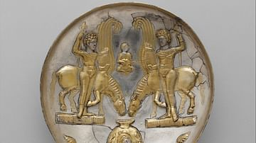 Sassanian Plate with Winged Horses