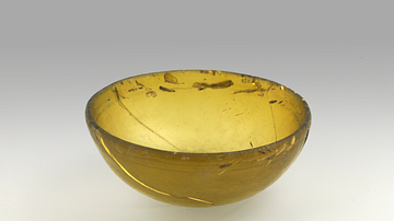 Levantine Amber Glass Wine Cup