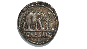 Denarius of Julius Caesar with Elephant