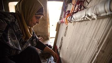 Woman Weaving, Lebanon