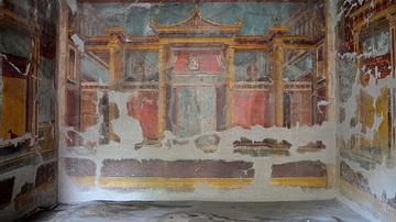 Oecus with Second Pompeian Style Fresco, Oplontis Villa Poppaea