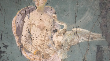 Leda and the Swan Fresco from Stabiae