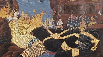 Painted Mural at the Temple of the Emerald Buddha