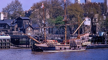 A Replica of the Golden Hind