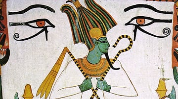 Painting of Osiris, Tomb of Sennedjem