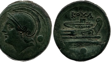 Copper Coin Depicting Roma