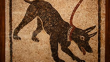 Roman Guard Dog Mosaic