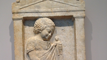 Grave Stele of a Young Girl, Melisto