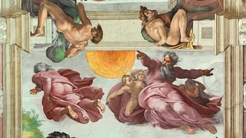 God Creating the Sun, Moon & Planets, Sistine Chapel
