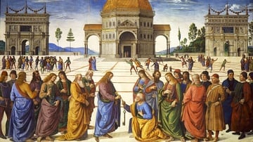 Delivery of the Keys to St. Peter by Perugino