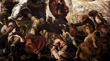 Moses Drawing Water from the Rock by Tintoretto