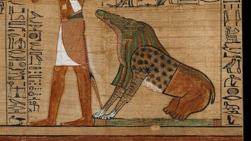 Ammit & Thoth Await the Judgement of a Soul