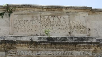 Inscription, Arch of Titus