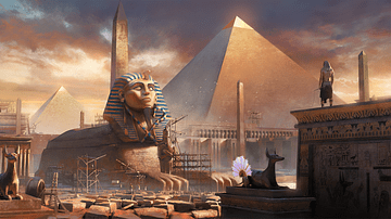 Great Sphinx & Great Pyramid of Giza (Artist's Impression)