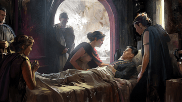 Artist's Depiction of an Ailing Roman