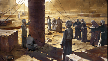 Artist's Depiction of an Excavation in Egypt