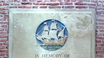 Mayflower Plaque in Leiden