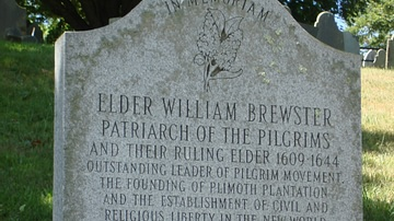 William Brewster Memorial Stone
