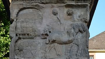 Relief Showing a Scene of Cloth Trade