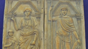 Stilicho with His Wife & Son