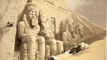 Statues Outside the Temple of Abu Simbel