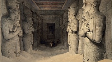 Statues Inside the Temple of Abu Simbel
