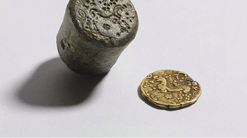 Celtic Coin Die & Gold Coin