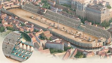 Illustration of Circus Maximus, Rome