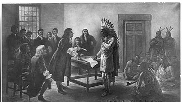 King Philip Meeting with Colonists