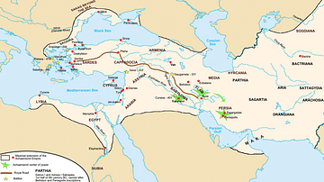 Achaemenid Empire Map