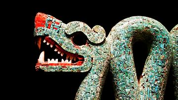 Aztec Double-Headed Serpent (Detail)