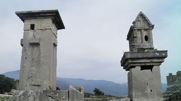 Lycian tombs, Xanthos