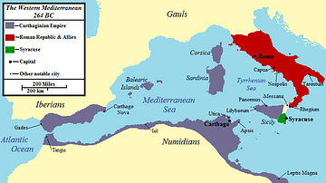 Map of the Mediterranean 550 BC (Illustration) - Ancient ...