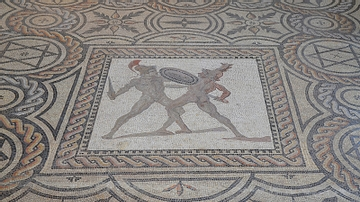 Gladiator Mosaic, Reims