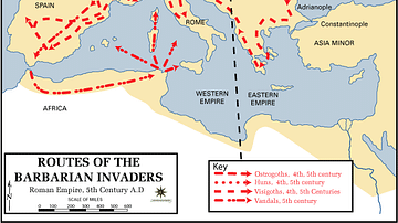 Routes of the Barbarian Invaders