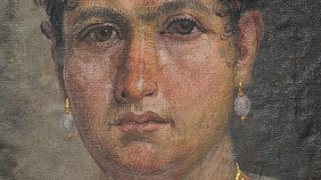 Mummy portrait of Lady Aline