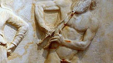 Marsyas, detail from NAM, Athens, 215.