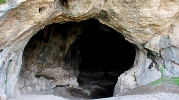 The dark cave of Hazar Merd Group of Caves