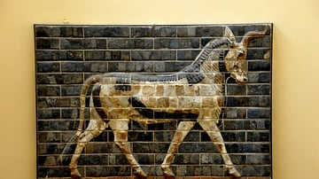 An Auroch from the processional street at Babylon