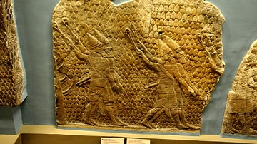 Assyrian Slingers Attacking The City of Lachish