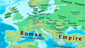 Map of Europe, 400 CE