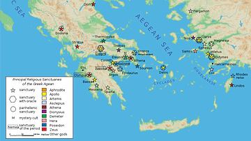 Map of Classical Greek Sanctuaries