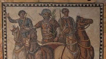 Mosaic with Chariot-racing Scene