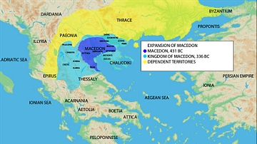 Map of the Expansion of Macedon