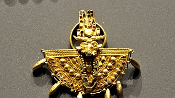 Shield Ring with Amun's head