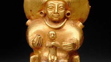 Seated Hittite Goddess with Child