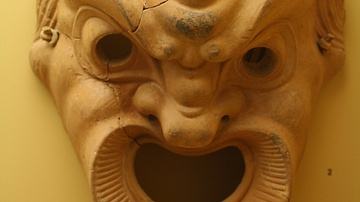 Greek Terracotta Comedy Mask
