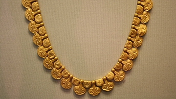 Mycenaean Gold Necklace, Dendra