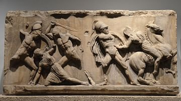 Amazonomachy Relief from the Mausoleum at Halicarnassus