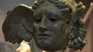 Bronze head of Hypnos